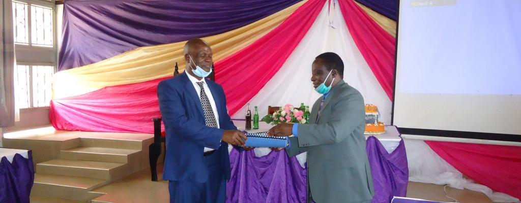 CAO Mawejje Andrew Hands over office to CAO Wadada Lawrence