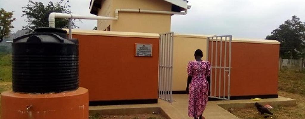 VIP latrine at Ngora Health Centre IV by USAID and Rhites-E